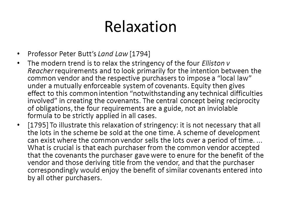 Relaxation Professor Peter Butt's Land Law [1794]